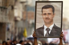 Assad Portrait Actual Banner